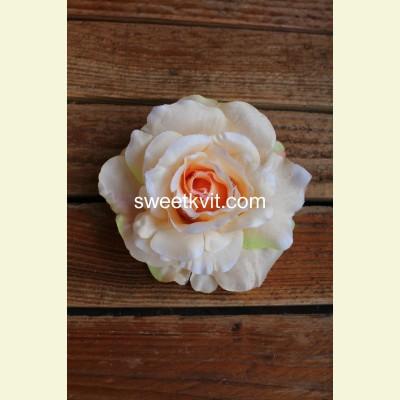 Искусственная роза - насадка, Ø 13 см