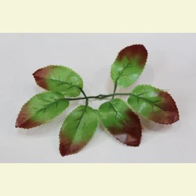 Искусственный лист розы, 16 см