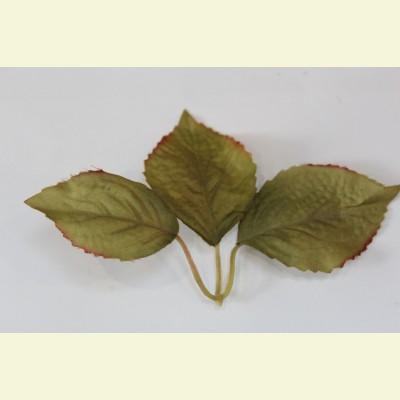 Искусственный лист вишни, 16 см