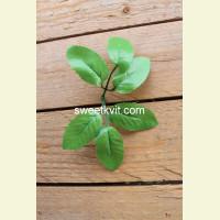 Искусственный лист розы, 18 см