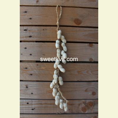 Искусственные овощи. Арахис вязанка, 52 см