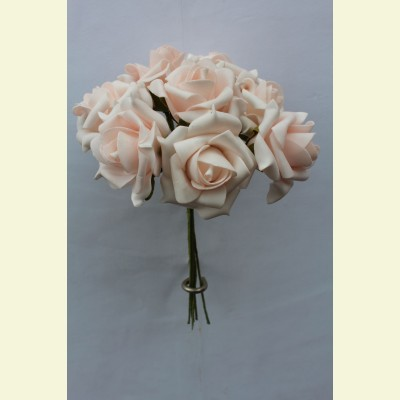 Искусственная роза пучок, 23 см