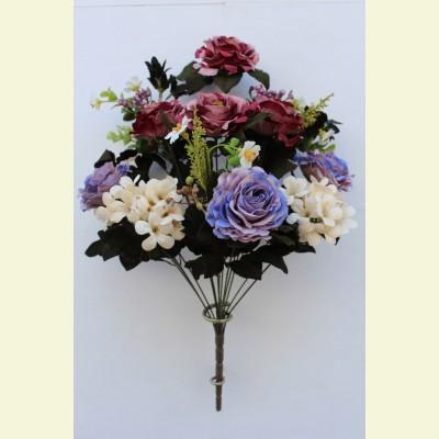 Ритуальный букет роза, гортензия, ромашка, 50 см