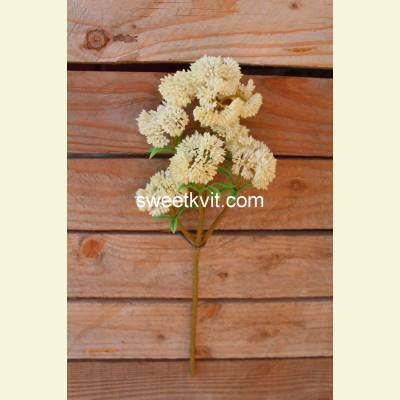 Искусственная цветная капуста ветка, 33 см