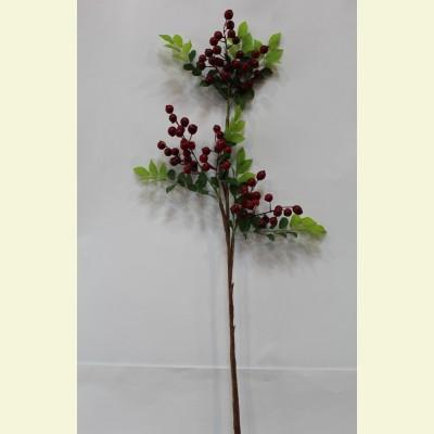 Искусственные ягоды. Рябина ветка, 94 см