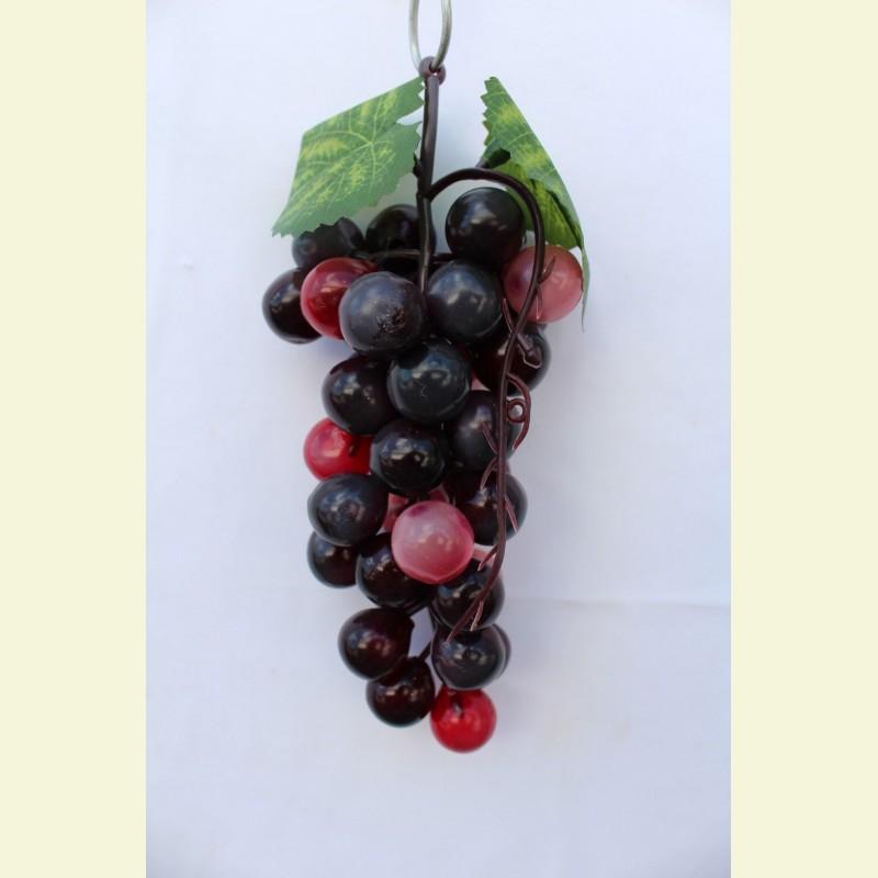 Искусственные фрукты. Виноград гроздь, 17 см